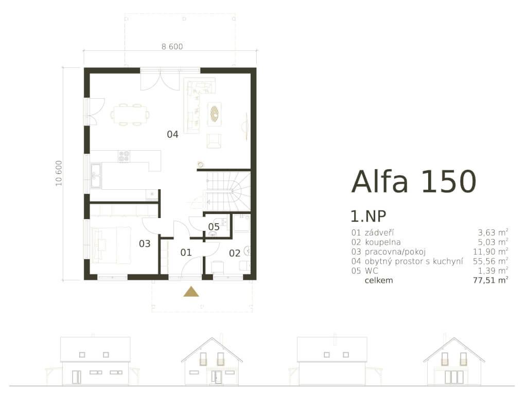 Patrovy Dum Alfa 150 Atrium
