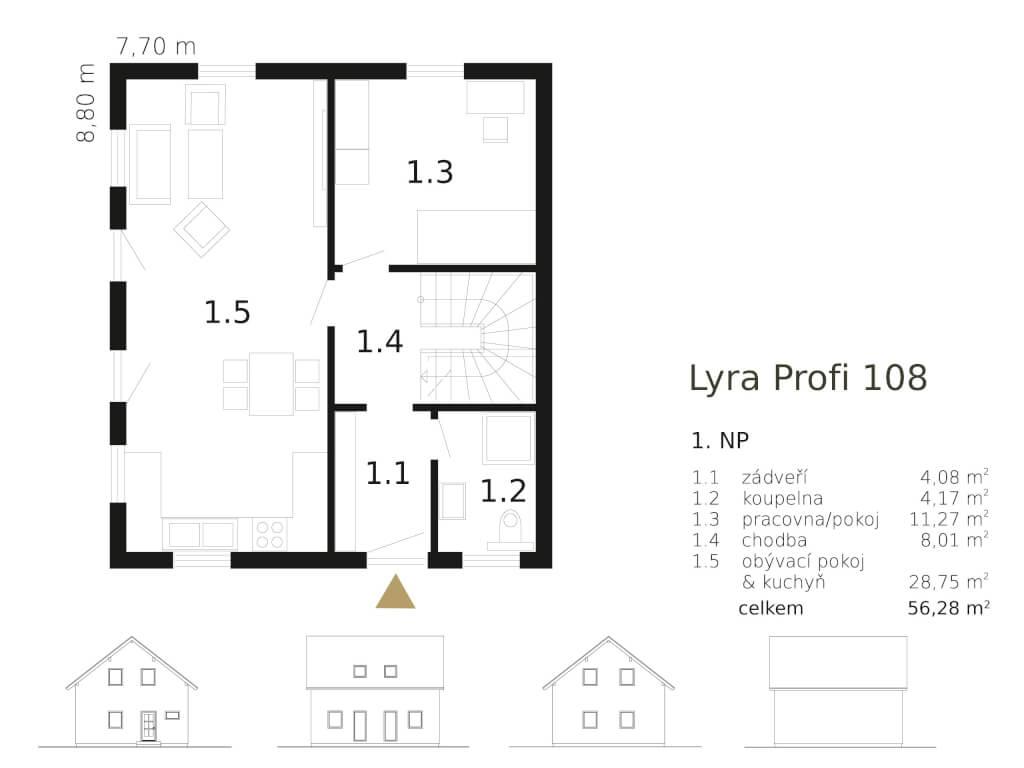 Patrovy Dum Lyra Profi 108 Atrium